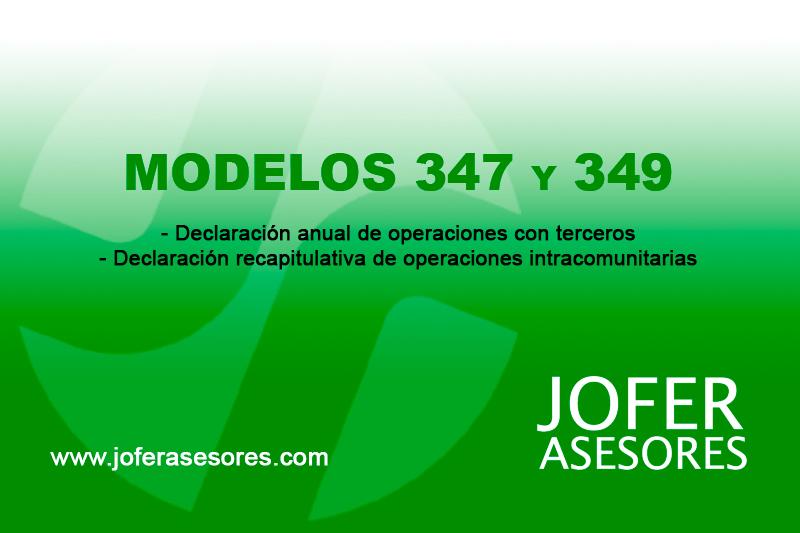 Presentación de los Modelos 347 y 349