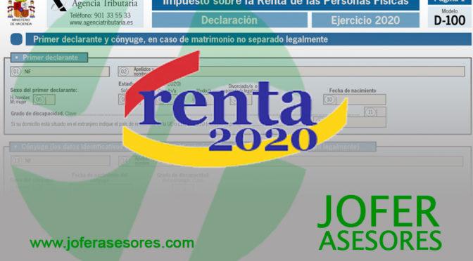 CAMPAÑA DE RENTA Y PATRIMONIO 2020